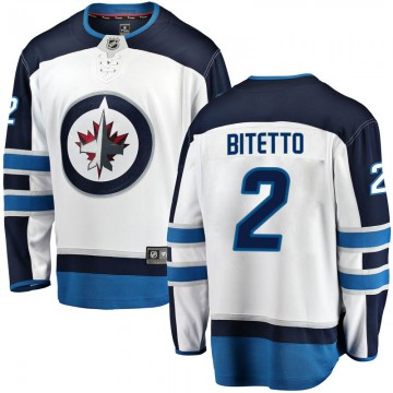 Breakaway Fanatics Branded Youth Anthony Bitetto Winnipeg Jets Away Jersey - White